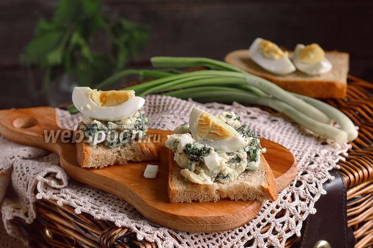 Рецепт Тосты с салатом из молодой крапивы