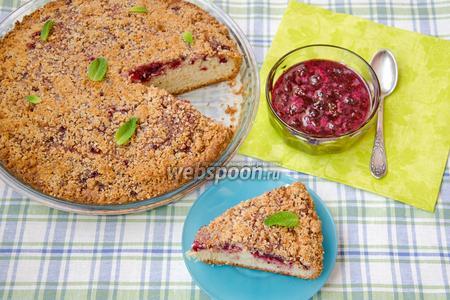 Пирог с вишней и миндальным штрейзелем