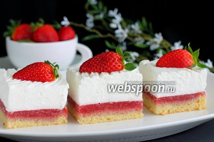 Рецепт Пирожные «Клубника со сливками»