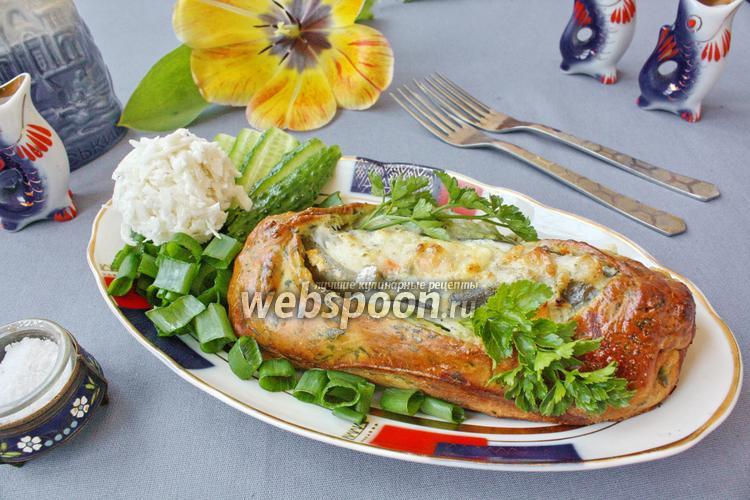 Рецепт Зубатка в тесте с овощами