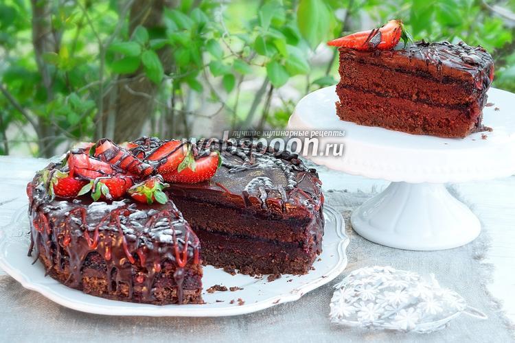 Рецепт Торт-брауни с ягодным мармеладом «Пралине»