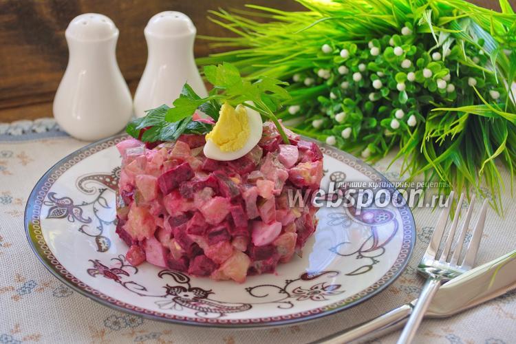 Рецепт Салат свекольный со свиным языком