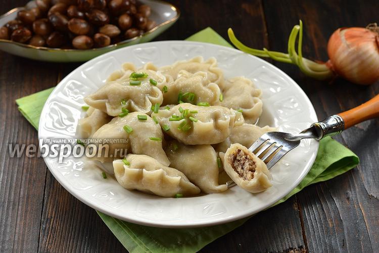 Рецепт Вареники с курицей и фасолью