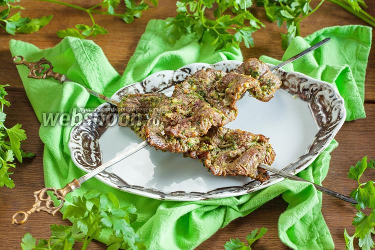 Рецепт Шашлык из говядины в духовке