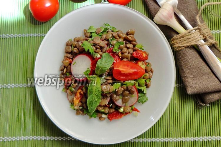 Фото Чечевичный салат с редиской