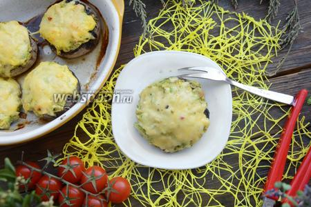 Грибы запечённые с кабачками и сыром