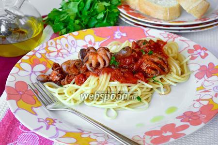 Спагетти с осьминогами