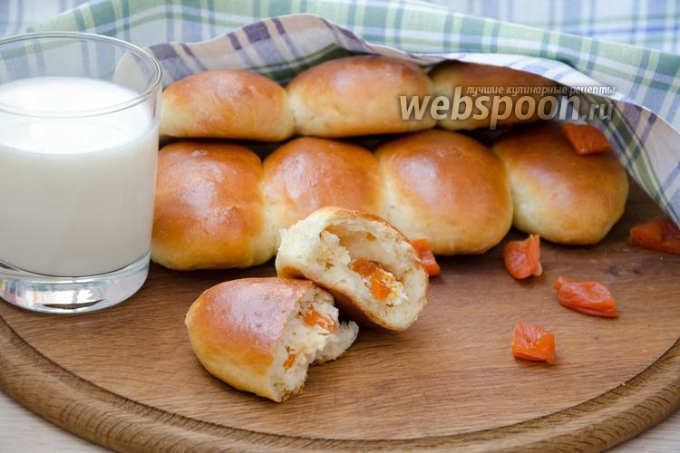 Рецепт Духовые пирожки с творогом и курагой, в хлебопечке