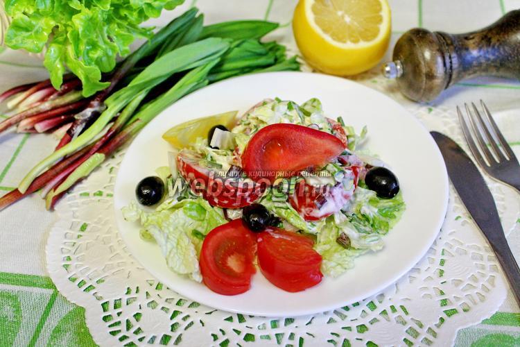 Рецепт Салат из черемши с помидорами