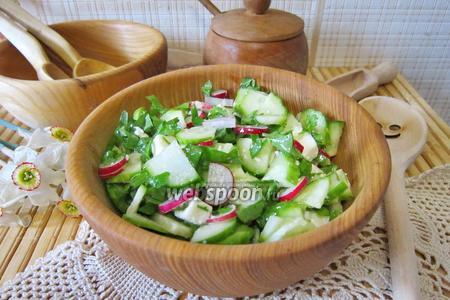 Витаминный салат со щавелем