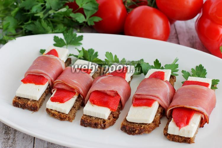 Рецепт Бутерброды с беконом закусочные
