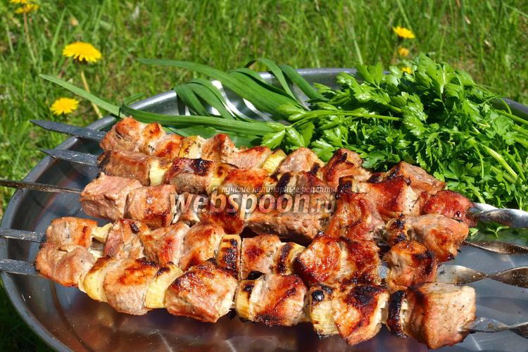 Рецепт Шашлык из свинины в пивном маринаде