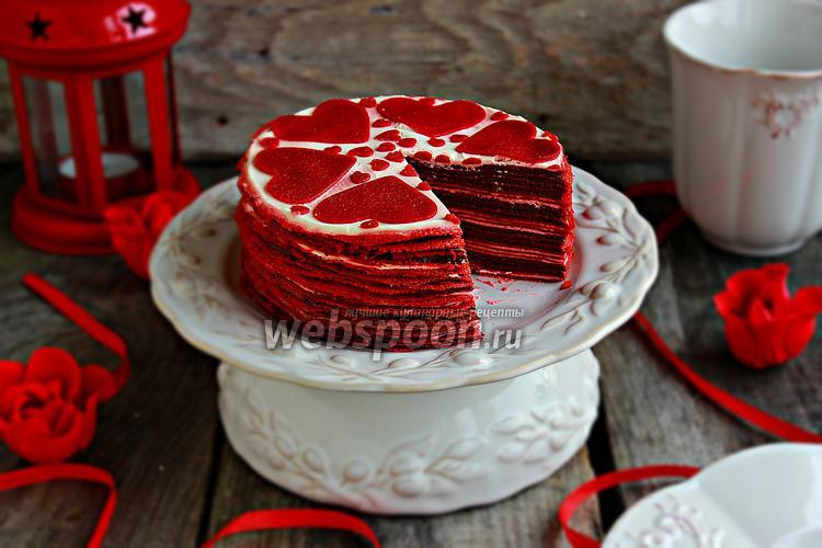 Рецепт Блинный торт «Red Velvet»