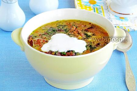 Суп гороховый с грибами