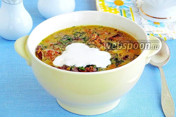 Рецепт Суп гороховый с грибами