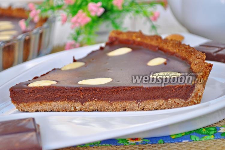 Фото Шоколадно-миндальный тарт