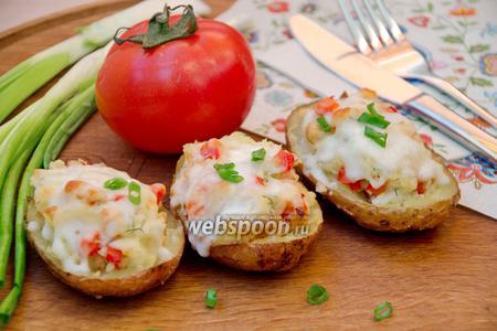 Картофельные лодочки с копчёной курицей