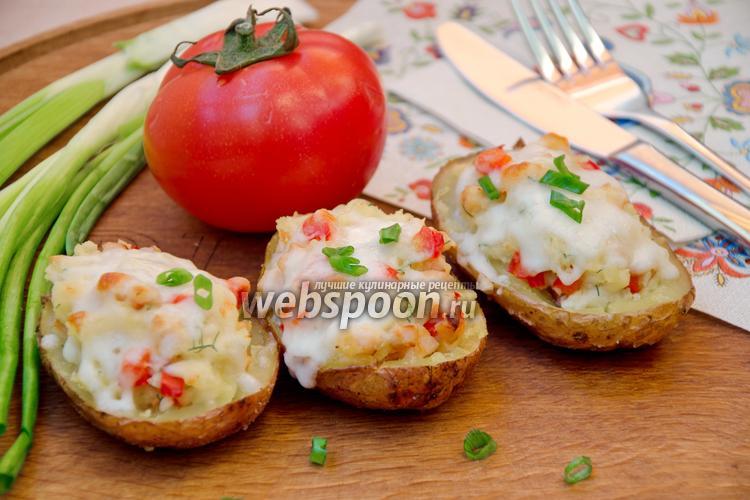 Рецепт Картофельные лодочки с копчёной курицей