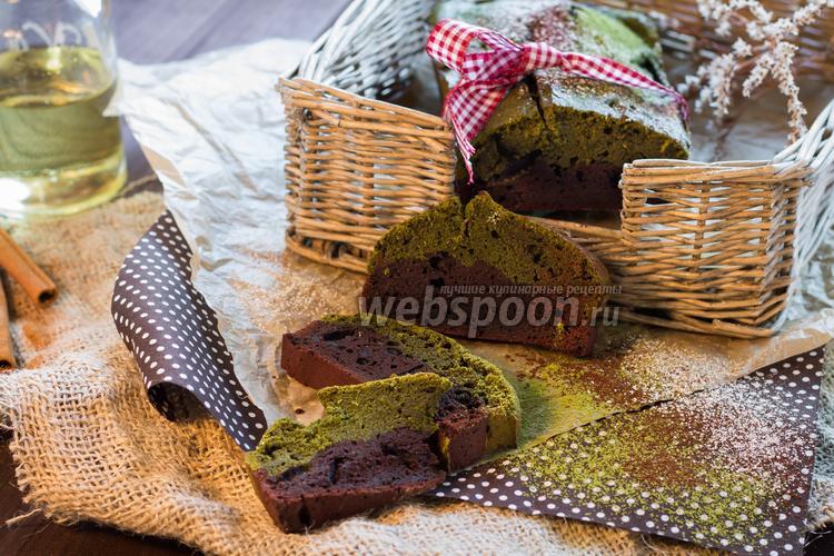 Фото Кекс шоколадный с зеленым чаем матча