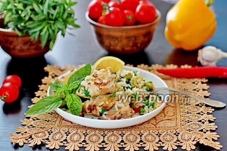 Фото Цыплёнок с рисом по-испански