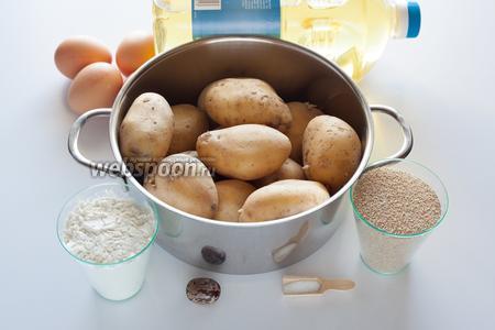 Базовый способ приготовления теста и использования компонентов я уже описала в рецепте простых  картофельных крокетов . Как только поставили вариться картошку, нужно сразу приступить к приготовлению начинки.