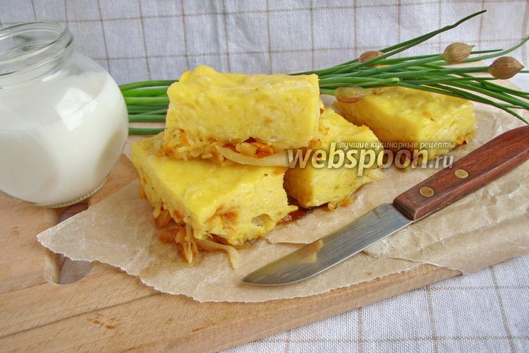 Рецепт Заливной пирог с капустой в мультиварке