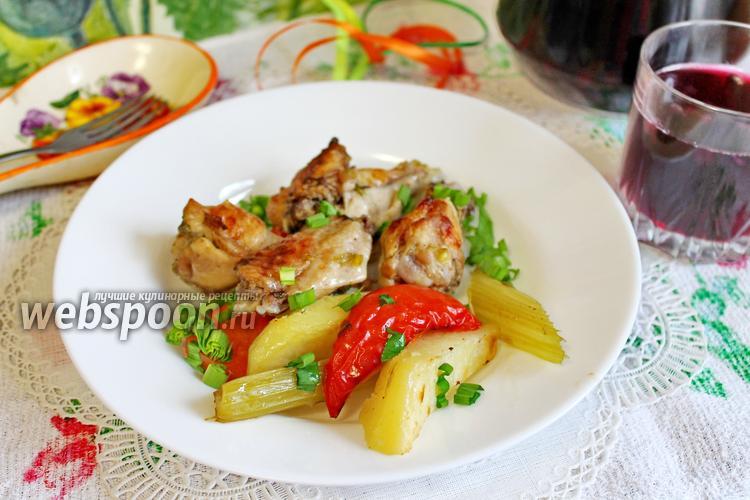 Рецепт Жаркое с курицей и овощами в духовке