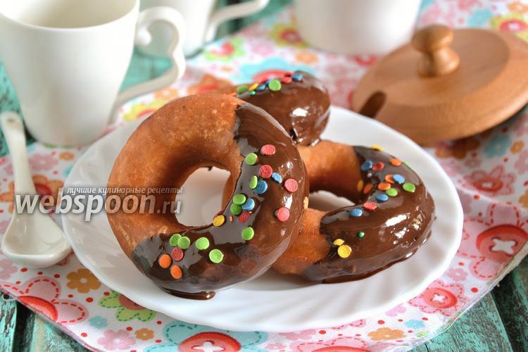 Рецепт Пончики на сковороде «Фантазия» в шоколаде