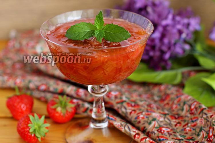 Рецепт Варенье из ревеня и клубники в мультиварке