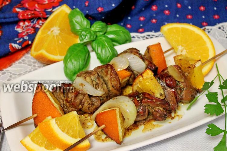 Рецепт Сувлаки из куриной печёнки