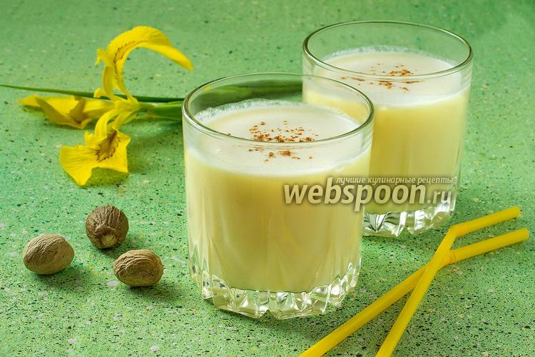 Фото Молочно-апельсиновый коктейль с мускатным орехом