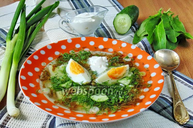 Рецепт Холодный суп из щавеля