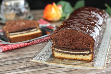 Шоколадный кекс с печеньем