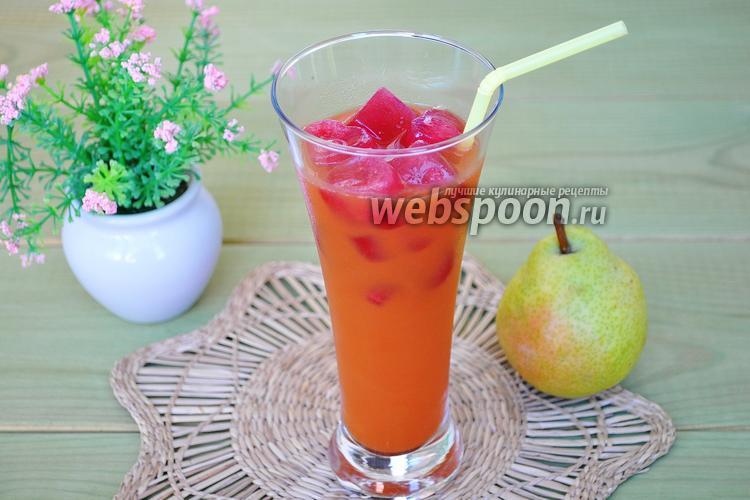 Рецепт Морковно-грушевый фреш с замороженным гранатовым чаем