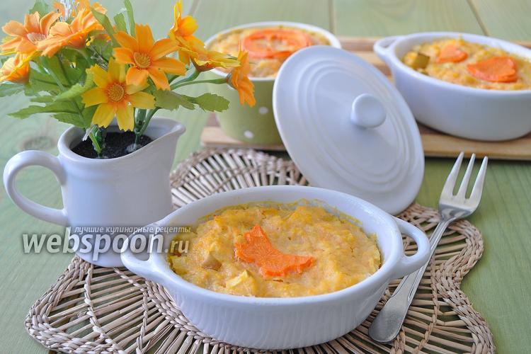 Рецепт Запеканка из пшена морковного жмыха