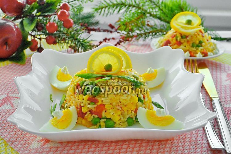 Фото Тёплый салат с овощами и рисом «Краски лета»