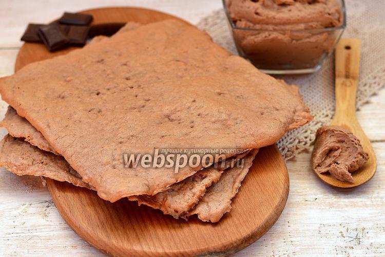 Рецепт Белковые шоколадные коржи
