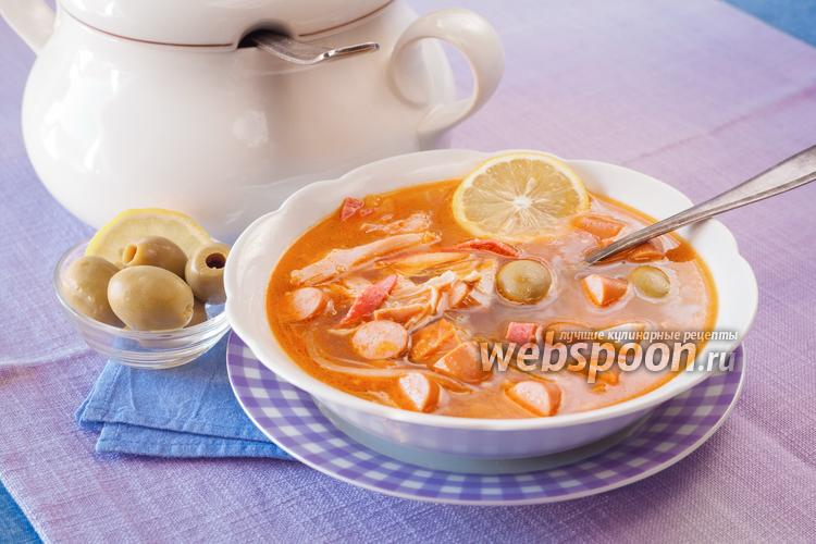 Рецепт Солянка на курином бульоне