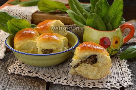 Пирожки с печенью и укропным маслом