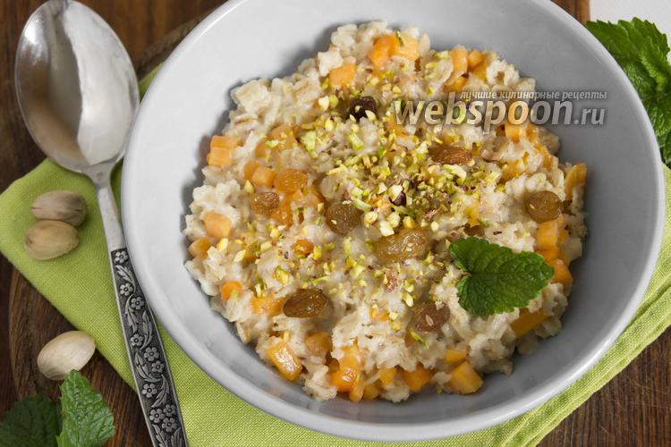 Рецепт Овсяная каша с тыквой и орехами