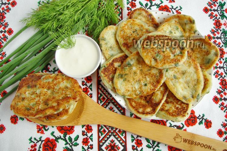 Рецепт Йогуртовые оладьи с творогом и зеленью