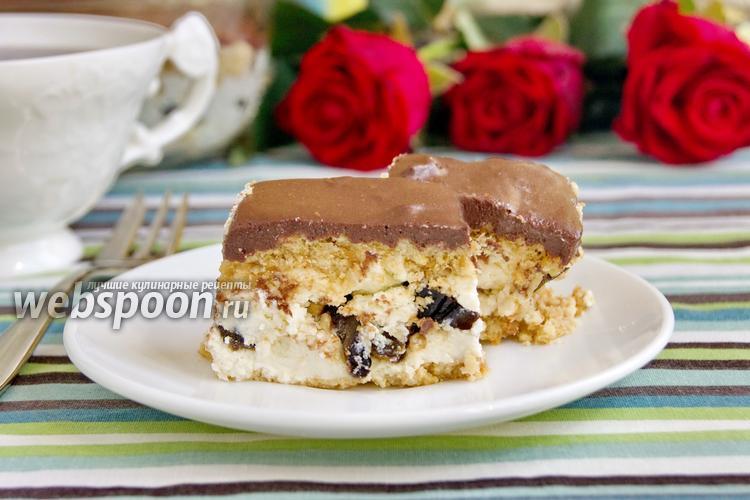 Рецепт Творожный десерт с шоколадной глазурью