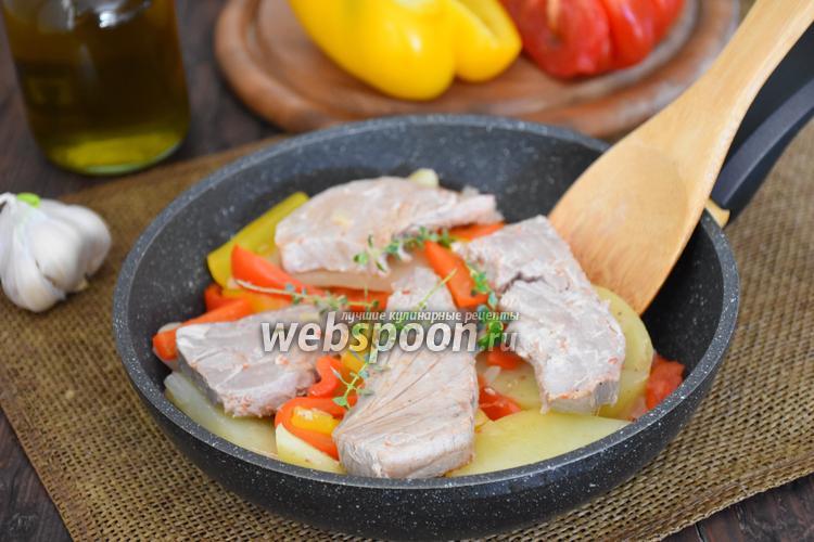 Рецепт Филе тунца с картофелем и сладким перцем