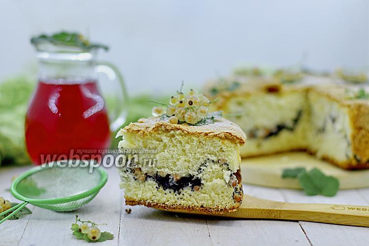 Рецепт Бисквит с белой смородиной