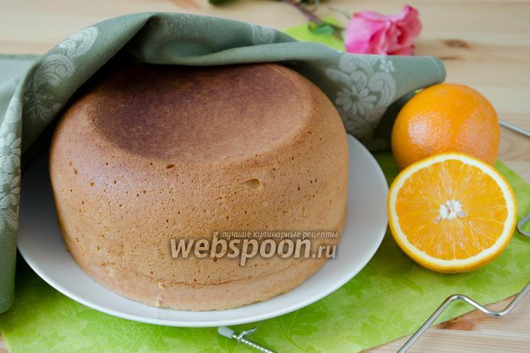 Рецепт Апельсиновый бисквит в мультиварке