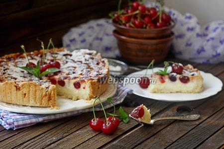 Тарт с вишней и творогом