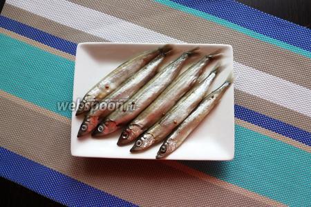 Так как в рассоле достаточно много соли, то небольшую рыбку достаточно солить 1 сутки. Солёная мойва готова.