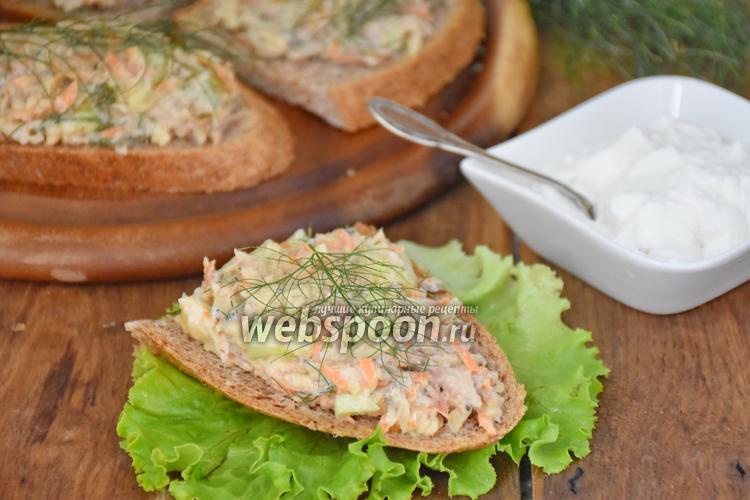 Фото Бутерброды «по-шведски» с сардинами