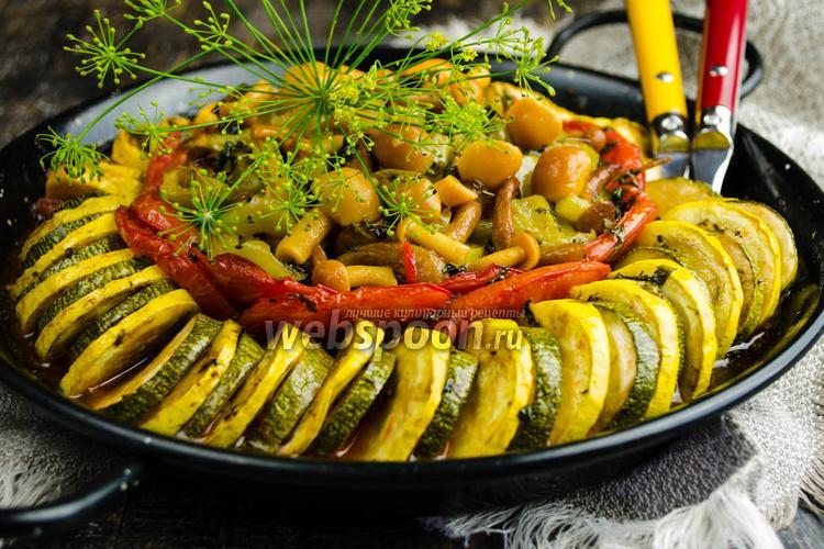 Рецепт Рататуй из цукини с грибами и стручковой фасолью