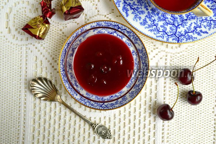 Фото Вишнёво-шоколадное варенье